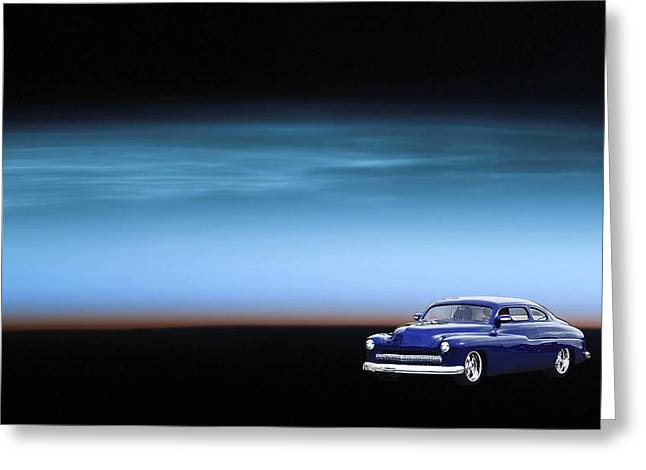 50 Merc Greeting Cards - Space Sled Greeting Card by Bill Dutting