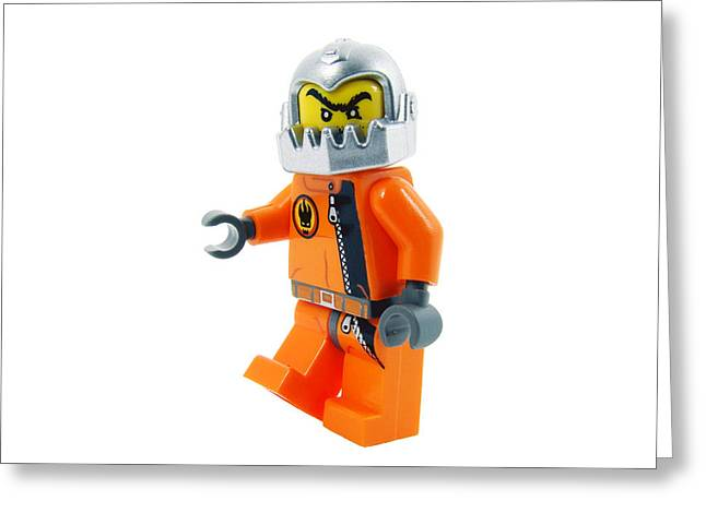 Lego Greeting Cards - Space soldier toy. Greeting Card by Fernando Barozza
