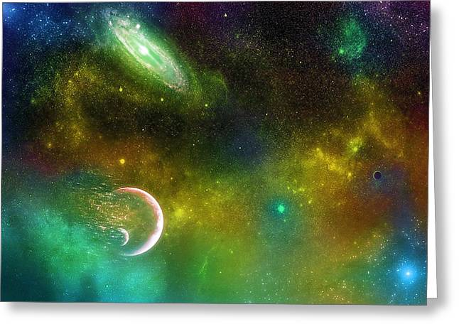 Super Stars Greeting Cards - Space001 Greeting Card by Svetlana Sewell