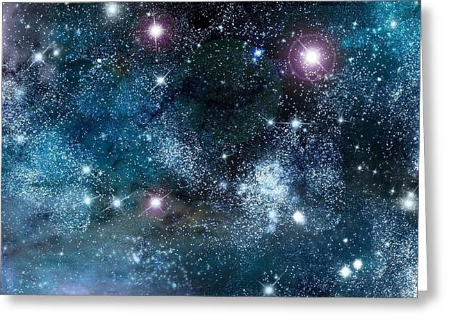 Super Stars Greeting Cards - Space003 Greeting Card by Svetlana Sewell