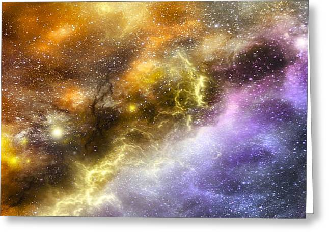 Super Stars Greeting Cards - Space005 Greeting Card by Svetlana Sewell