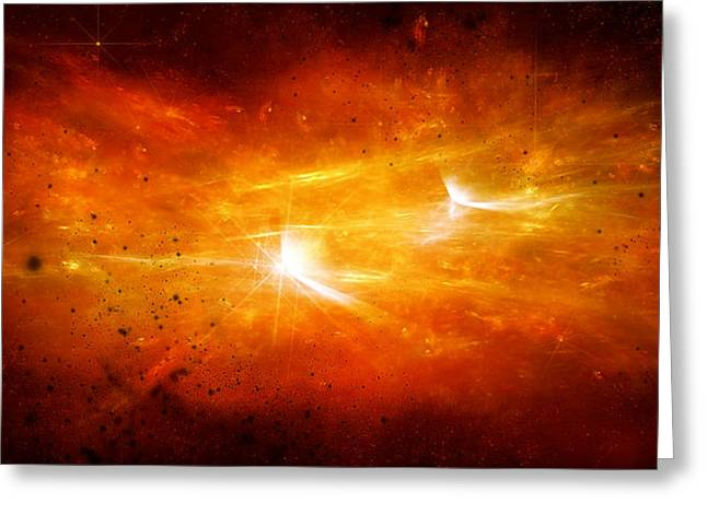 Space008 Greeting Card by Svetlana Sewell