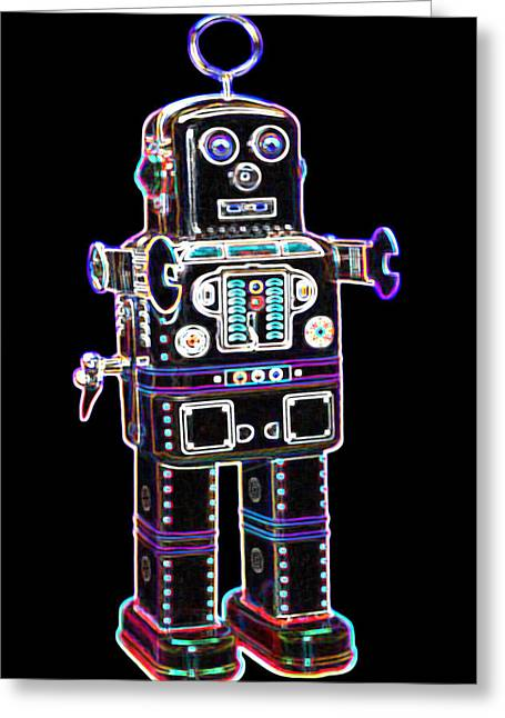Toys Greeting Cards - Spaceman Robot Greeting Card by DB Artist