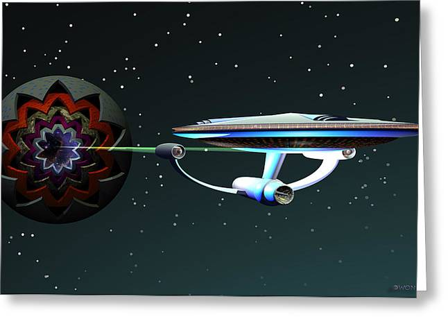 Enterprise Digital Art Greeting Cards - Space...the Final Frontier Greeting Card by Walter Oliver Neal