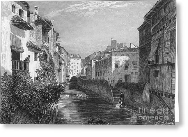 1833 Photographs Greeting Cards - Spain: Grenada, 1833 Greeting Card by Granger