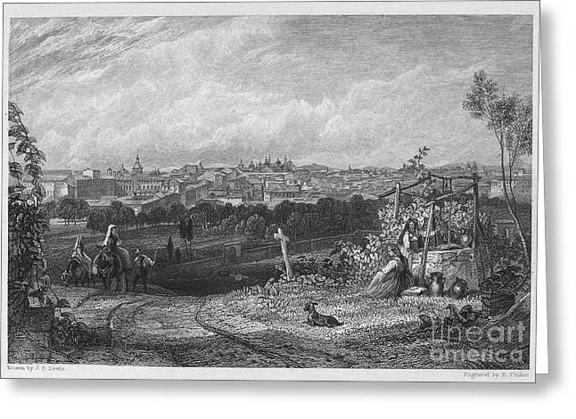 1833 Photographs Greeting Cards - Spain: Madrid, 1833 Greeting Card by Granger