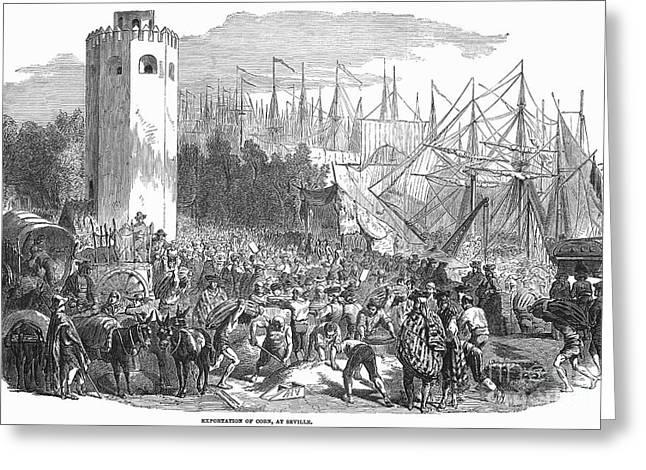Grain Sacks Greeting Cards - Spain: Seville, 1854 Greeting Card by Granger