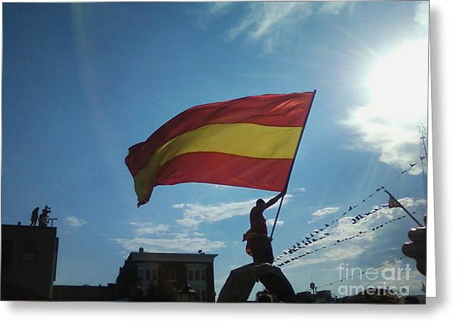 Win Greeting Cards - Spain wins UEFA Euro 2012 Greeting Card by Paul Ward