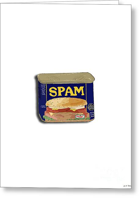 Mike Pedro Art Greeting Cards - Spam in a Can Greeting Card by George Pedro