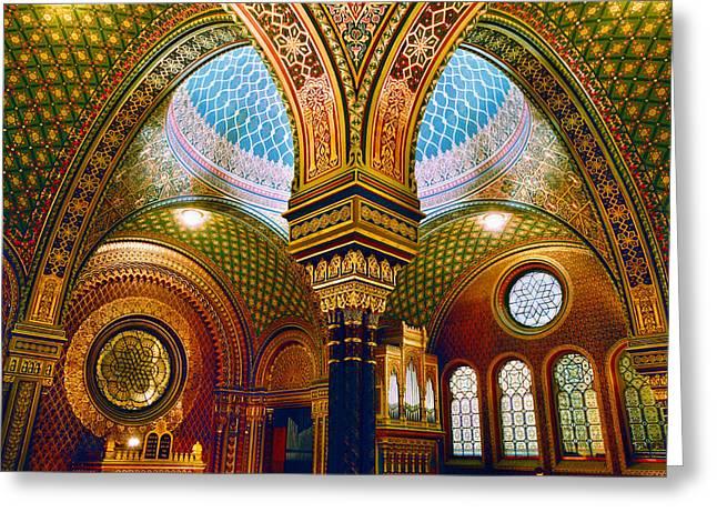 Church Synagogue Greeting Cards - Spanelska Greeting Card by John Galbo