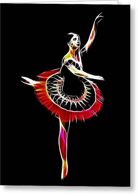 Spanish Ballerina Greeting Card by Stefan Kuhn