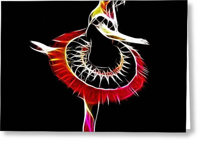 Spanish Ballerina Greeting Card by Stefan Kuhn
