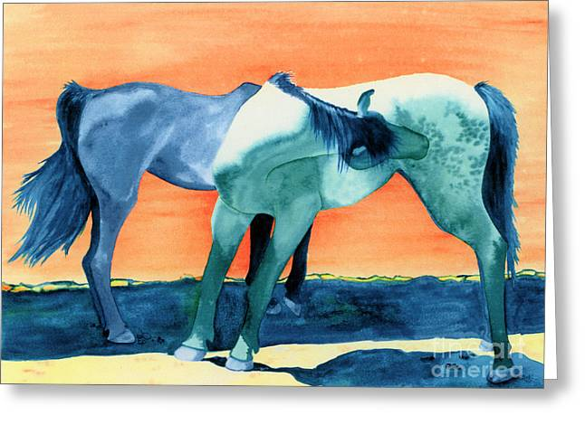 Express Paintings Greeting Cards - Spanish Barbs Greeting Card by Tracy L Teeter