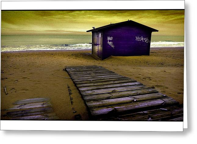 Costa Blanca Greeting Cards - Spanish Beach Hut Greeting Card by Mal Bray