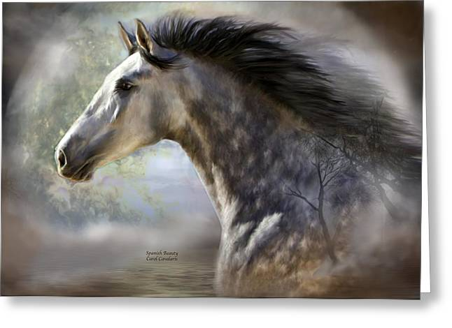 Horses With Nature Greeting Cards - Spanish Beauty Greeting Card by Carol Cavalaris
