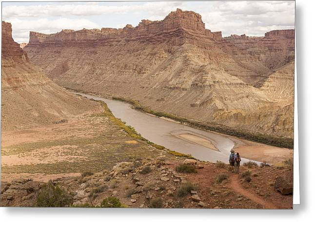 Spanish Bottoms And The Colorado River Greeting Card by Tim Grams