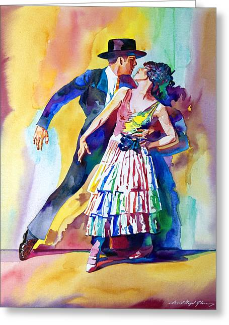 Most Popular Paintings Greeting Cards - Spanish Dance Greeting Card by David Lloyd Glover