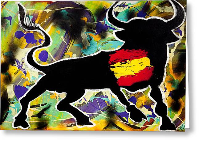 Modern Online Marketing Greeting Cards - Spanish he-Art Greeting Card by Artista Elisabet
