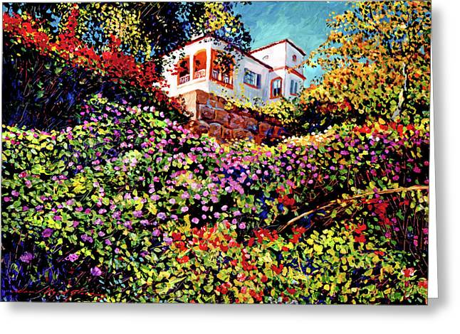 Europe Paintings Greeting Cards - Spanish House Greeting Card by David Lloyd Glover