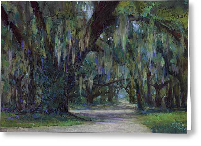 Moss Pastels Greeting Cards - Spanish Moss Greeting Card by Billie Colson