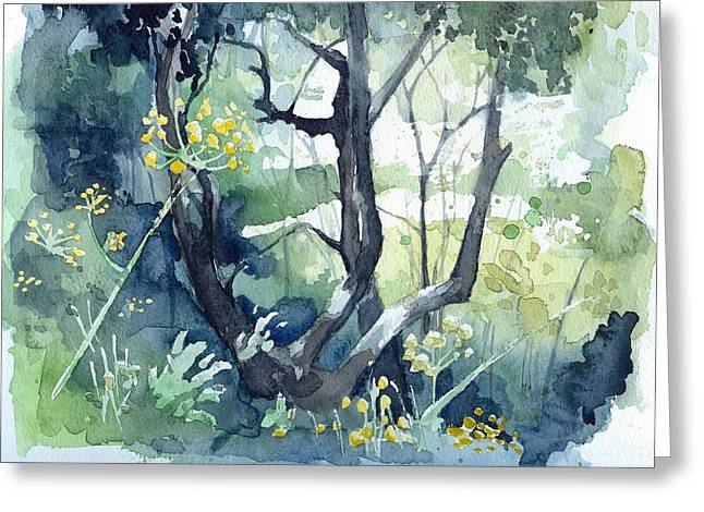 Spanish Olive Trees Greeting Card by Stephanie Aarons