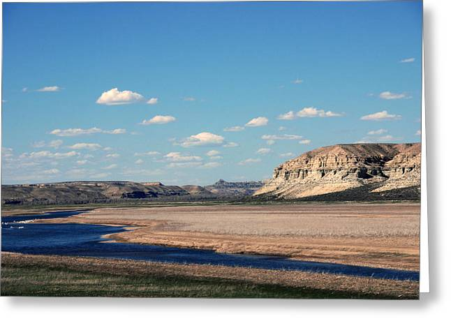 Traveling Greeting Cards - Spanish River Rio Verde Green River Wyoming Greeting Card by Susanne Van Hulst