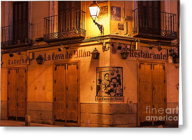 Cava Photographs Greeting Cards - Spanish Taberna Greeting Card by John Greim