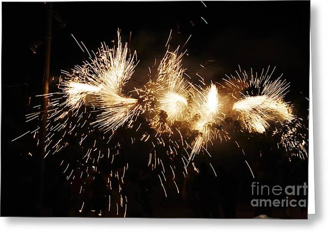 Fuegos Artificiales Greeting Cards - Spark snake Greeting Card by Agusti Pardo Rossello