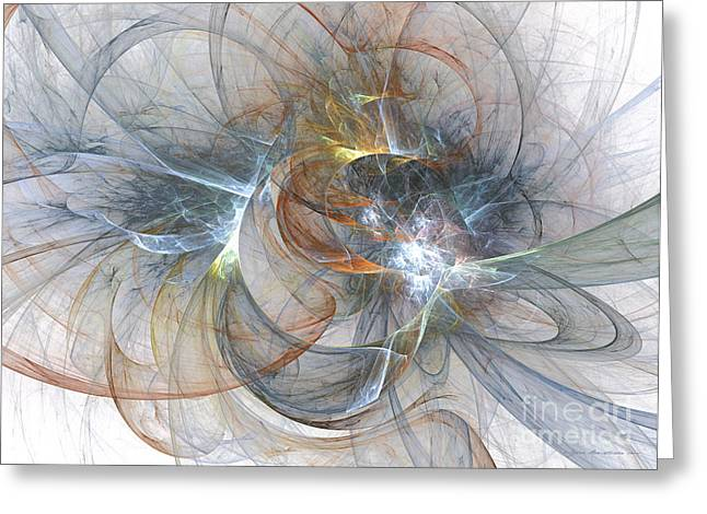 Interior Still Life Mixed Media Greeting Cards - Sparkle - abstract art Greeting Card by Abstract art prints by Sipo