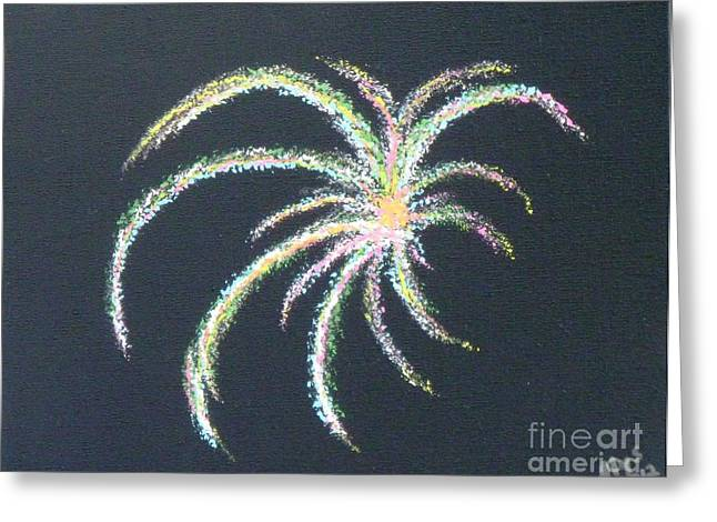 4th July Paintings Greeting Cards - Sparkler Greeting Card by Alys Caviness-Gober