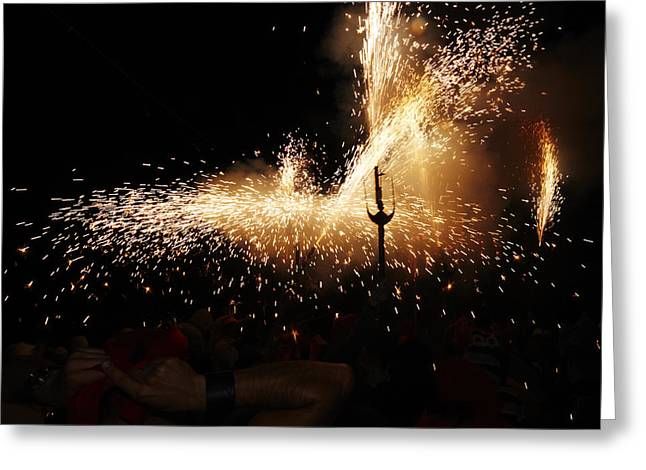 Fuegos Artificiales Greeting Cards - Sparkling Greeting Card by Agusti Pardo Rossello