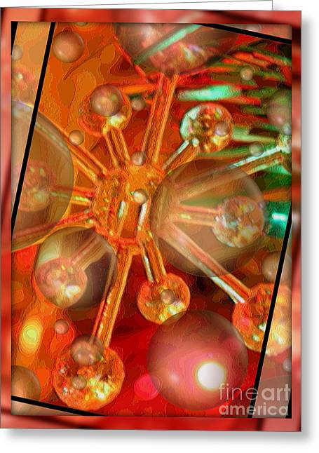Sparkling Spirit Of Christmas Greeting Card by Carol Groenen