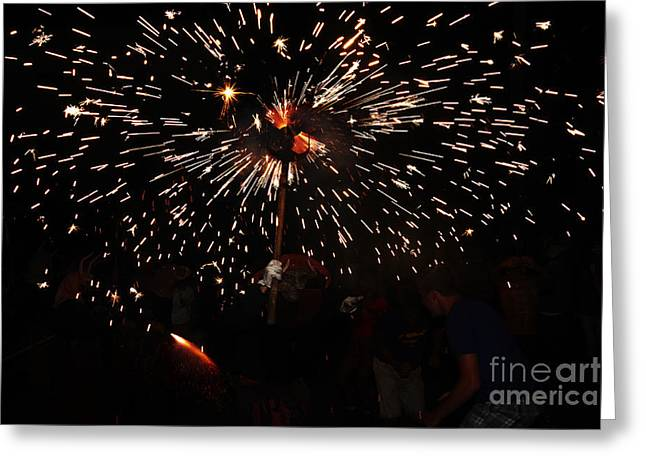 Fuegos Artificiales Greeting Cards - Sparkling stick Greeting Card by Agusti Pardo Rossello