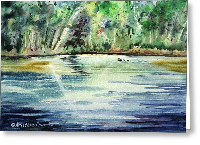 Wet In Wet Watercolor Greeting Cards - Sparkling Water Greeting Card by Kristine Plum