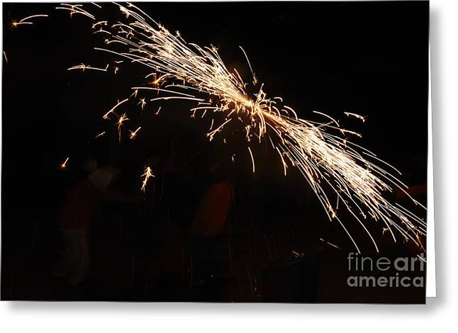 Fuegos Artificiales Greeting Cards - Sparks disco Greeting Card by Agusti Pardo Rossello