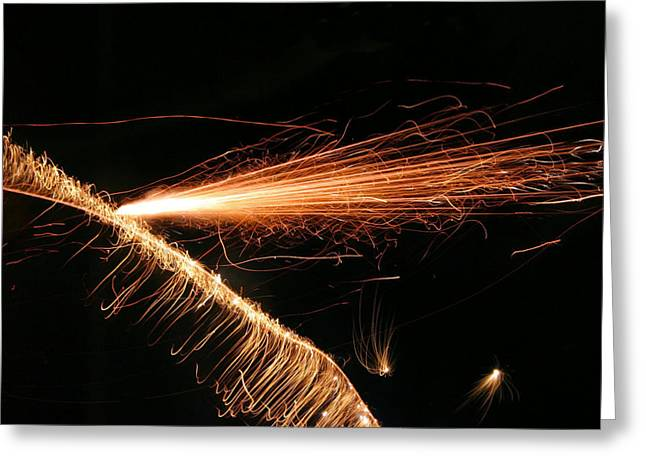 Tendrils Greeting Cards - Sparks Will Fly Greeting Card by Kristin Elmquist