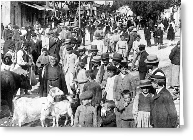 Sparta Greeting Cards - Sparta Greece - Street Scene - c 1907 Greeting Card by International  Images