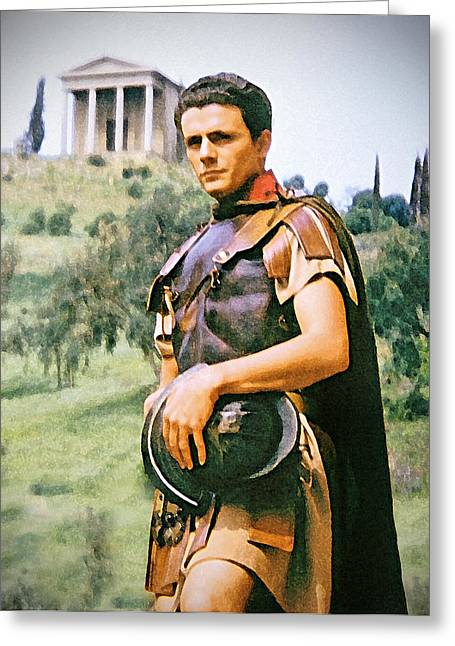 Staley Art Mixed Media Greeting Cards - Spartacus Greeting Card by Chuck Staley