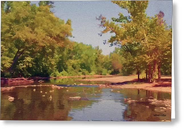 Oklahoman Greeting Cards - Spavinaw Creek Greeting Card by Jeff Kolker