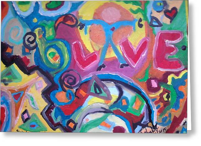 Disorder Paintings Greeting Cards - Special Drop Of Love Greeting Card by Catherine Herbert