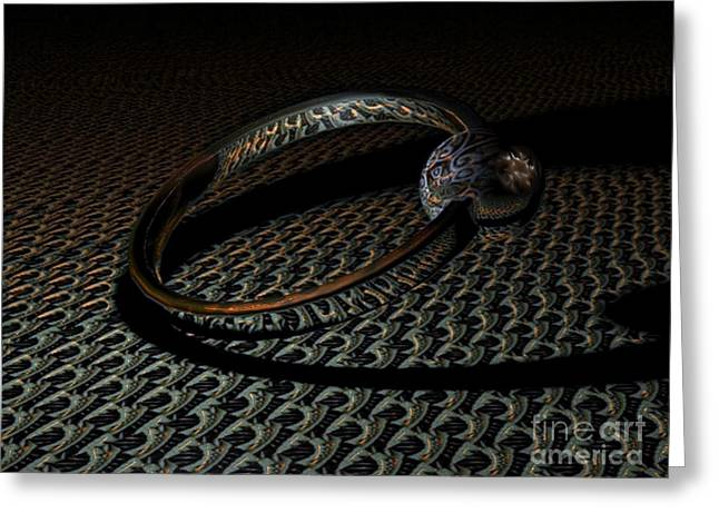 Bling Greeting Cards - Special ring Greeting Card by Jan Willem Van Swigchem
