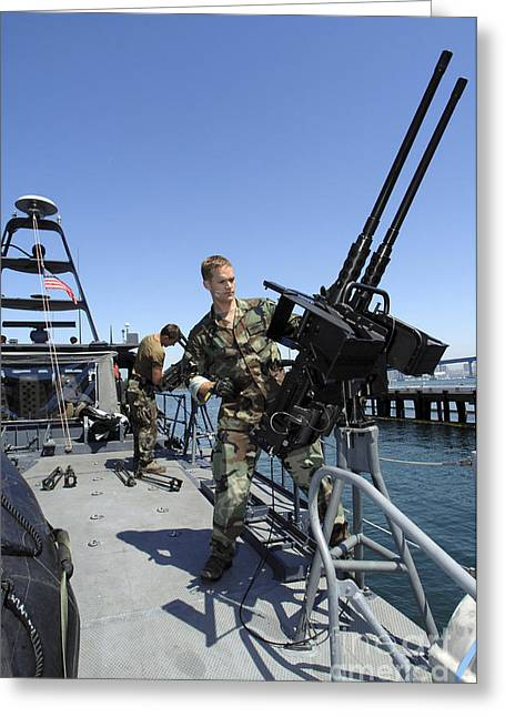 Special Warfare Combatant Craft Crewmen Greeting Card by Stocktrek Images