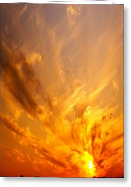 Sunset Prints Greeting Cards - Spectacular Sunset Greeting Card by Florene Welebny