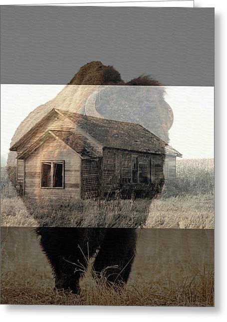 Specter Of The Past Greeting Card by Rick Rauzi