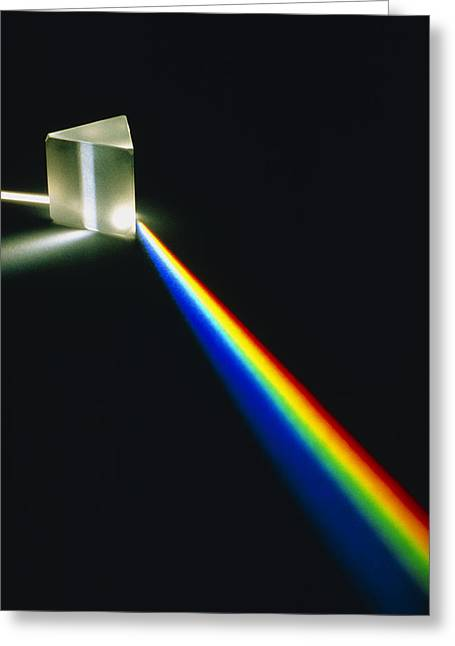 Spectral Light From Prism Greeting Card by David Parker