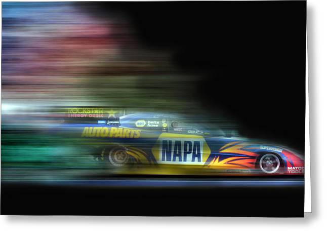 Funny Car Greeting Cards - Speed Coloring Greeting Card by Peter Chilelli
