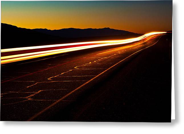 Speed Of Light Greeting Card by James Marvin Phelps