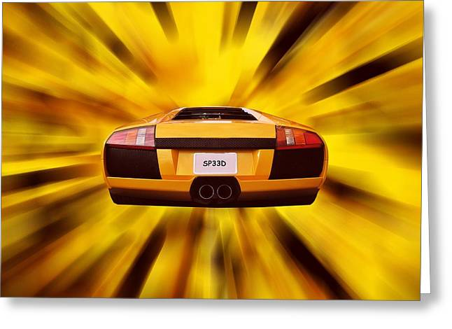 Furious Greeting Cards - Speed Greeting Card by Sharon Lisa Clarke