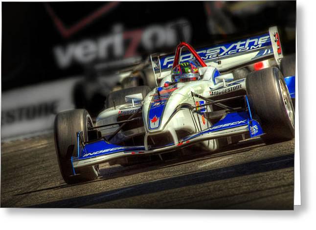 Indy Car Greeting Cards - Speed Zone Greeting Card by Craig Incardone