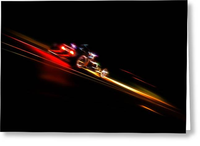 Motography Photographs Greeting Cards - Speeding Hot Rod Greeting Card by Phil